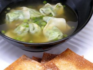 Spinach Soup With Wontons