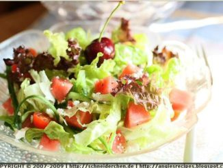Watermelon Leaf Lettuce Salad With Light Feta