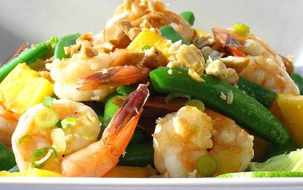 Shrimp & Snap Pea Salad With Ginger-Soy Vinaigrette
