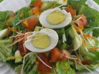 Green Salad With Fresh Orange Juice Dressing