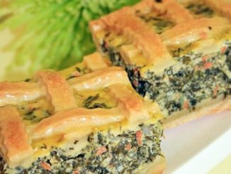 Spinach pie with home made dough
