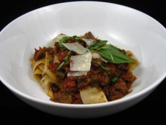 Homemade Tagliatelle With Wild Boar Ragu