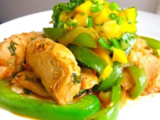 Spicy Coconut Chicken With Mango Basil Salsa