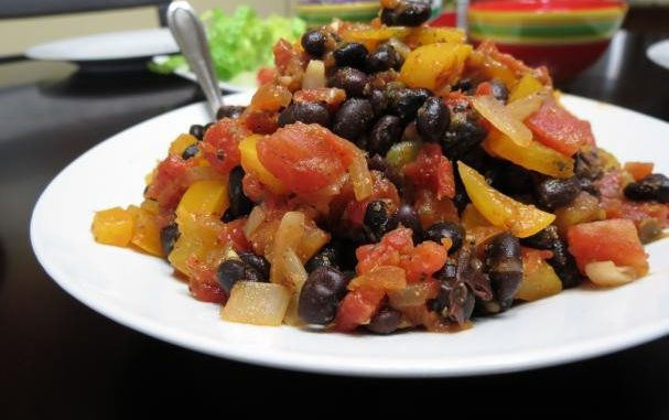 Black Bean and Peppers Taco Filling