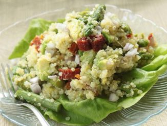 Quinoa Salad With Avocado, Asparagus and Sun Dried Tomatoes