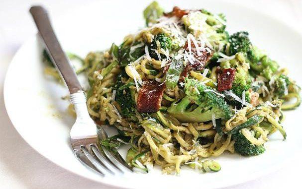 """Pesto Zucchini """"Spaghetti"""