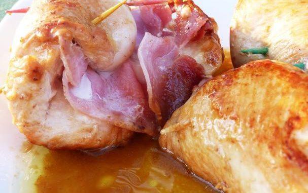 Involtini Di Pollo – Ham and Cheese Stuffed Chicken Rolls