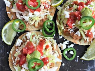 Rotisserie Chicken and Bean Tostadas