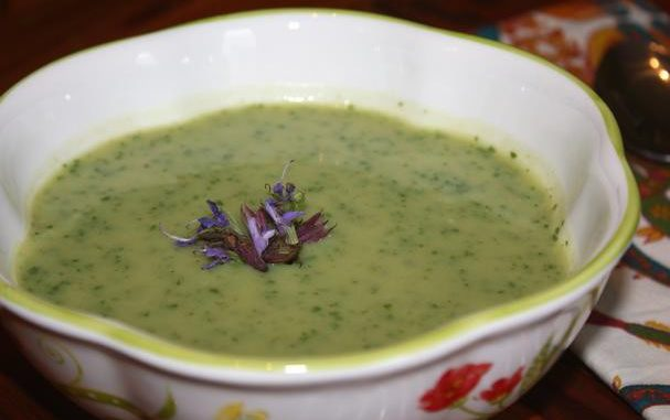 Dairy Free Garlic Scape Soup