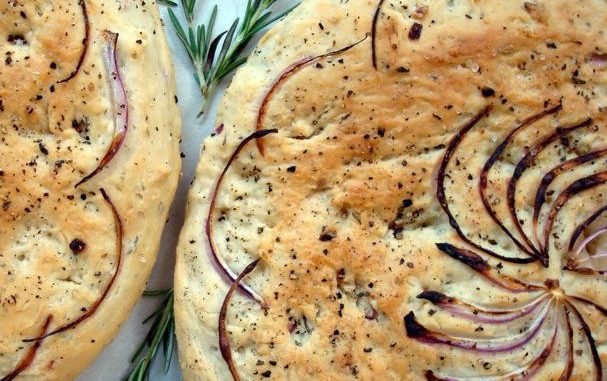 Rosemary and Red Onion Focaccia