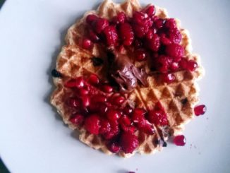 Pomegranate-Nutella Waffles