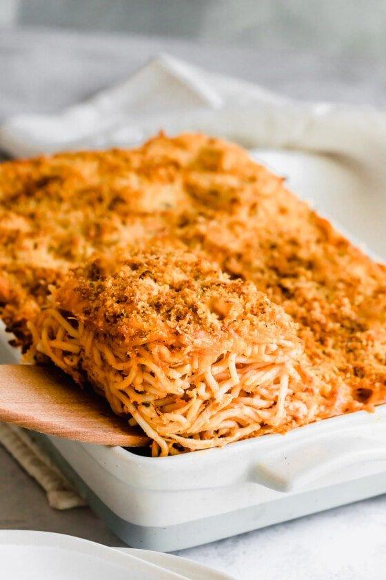 Easy Chicken Spaghetti Casserole