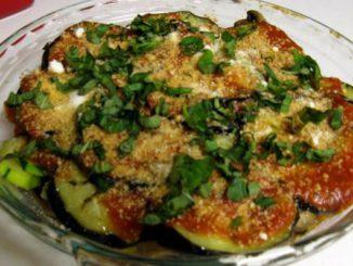 No-Breadcrumb Eggplant, Zucchini and Mushroom Parmesan Bake