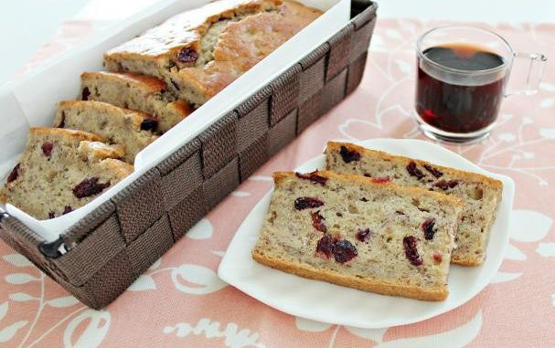 Banana, Cranberry and Apple Bread