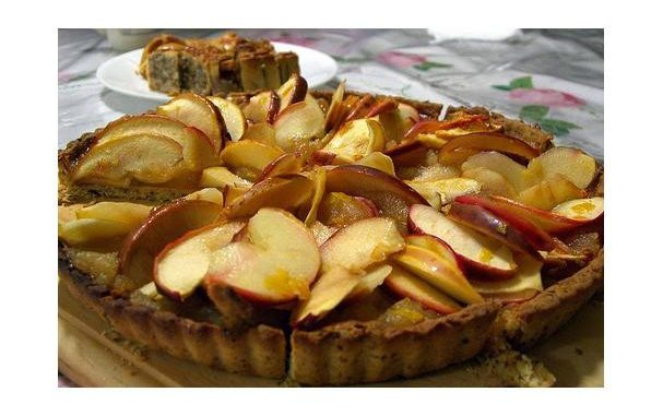 Apricot Glazed Apple Tart