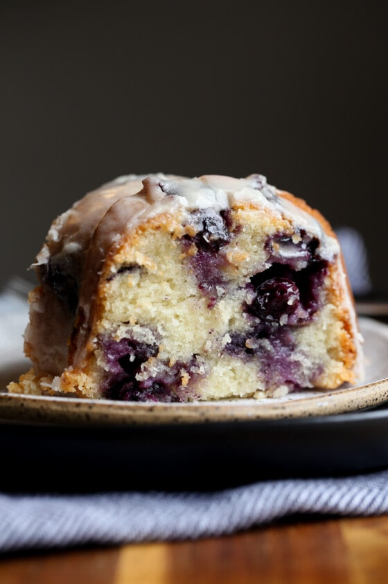 Sour Cream Blueberry Bundt Cake