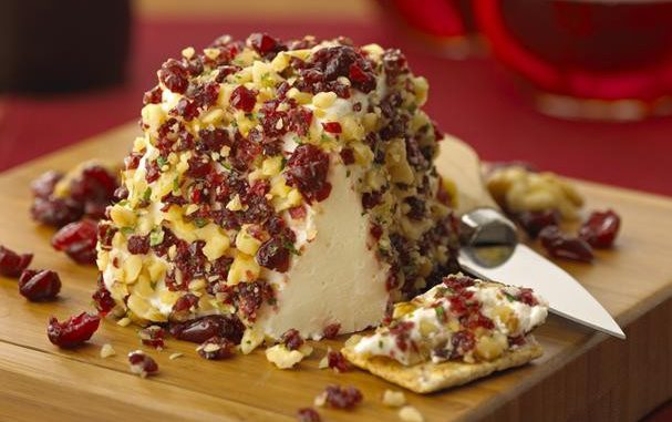 Chavrie Fresh Goat Cheese With Dried Cranberries and Walnuts