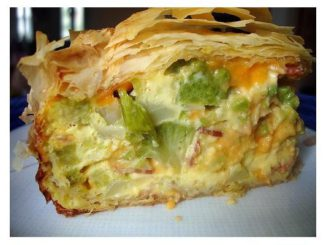 Broccoli and Cheese Phyllo Pie