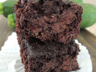 Double Dark Chocolate Zucchini Brownies