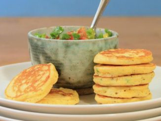 Jalapeño Corn Cakes With Avocado Salsa