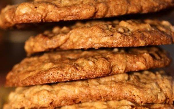 Cinnamon Toffee Praline Oatmeal Cookies