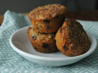 Mini Chocolate Chip & Flax Banana Muffins