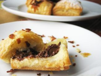 Chocolate Puff Pastry Squares