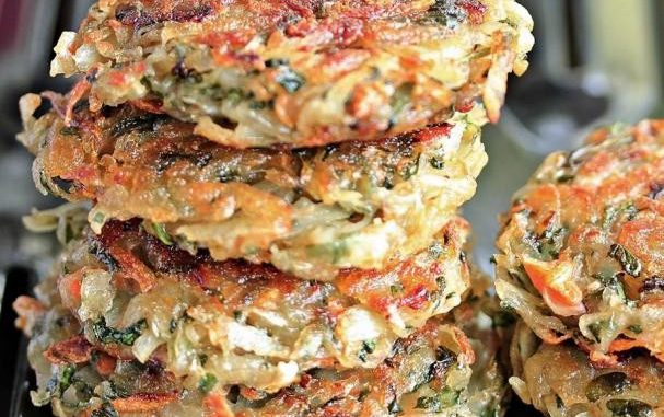 HomeMade Hashbrowns with Spinach and Carrots
