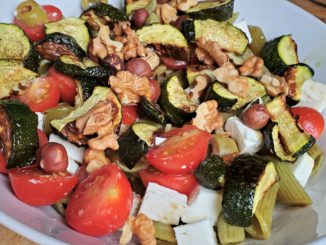 Mediterranean Pasta with Zucchini, Olives, and Feta
