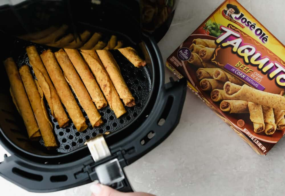 Air frying frozen taquitos from Jose Ole.