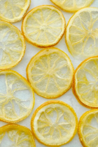 Dried candied lemon slices.
